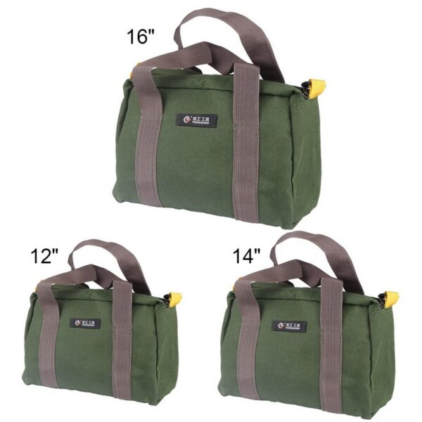 Multi-function Canvas Waterproof Hand Tool Storage Carry Bags Portable Toolkit Metal Hardware Parts Organizer Pouch 1 Pcs