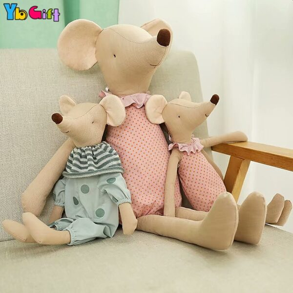 Kawaii Plush Toys Love Mice Mouse Plush Toys For Children Soft Stuffed Baby Doll Girls Toys Cute Birthday Gift Photography doll