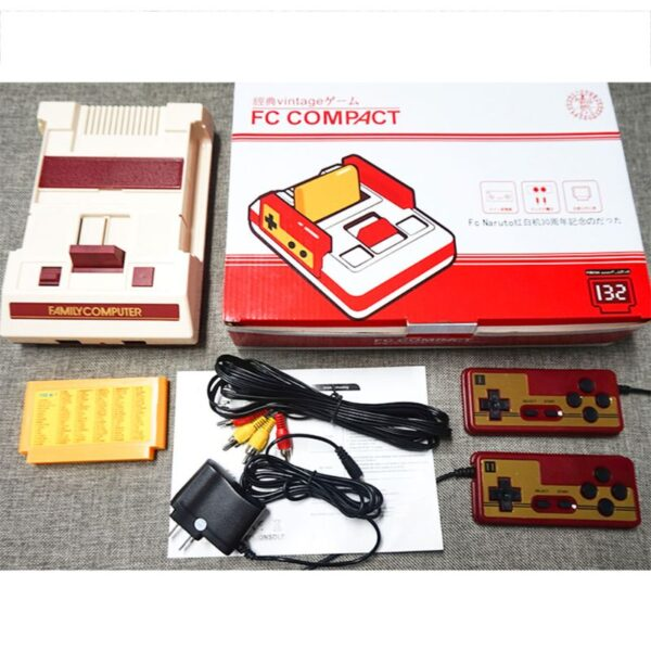 New 1Set Video Game Console Children Classic Gaming Controller 132 IN 1 Game Card for Children Kids Gifts SuppliesW91A