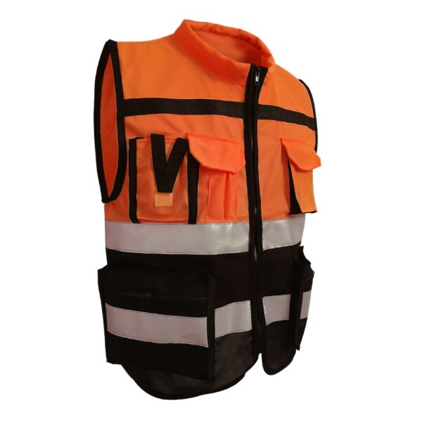 Reflective Strips Vest Safety Driving Jacket Traffic Waistcoat Cycling Coat Security Work wear Fire Protection Gloves L /XL /2XL