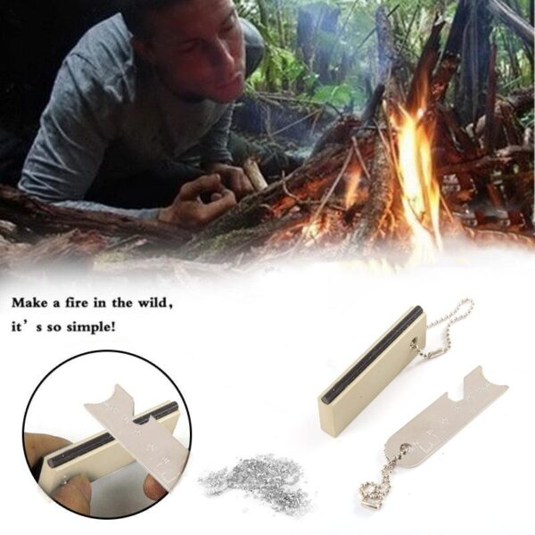 Magnesium Flint Scraper Stone Fire Starter Camping Hiking Travel Igniter Emergency Gear Outdoor Survival Tools