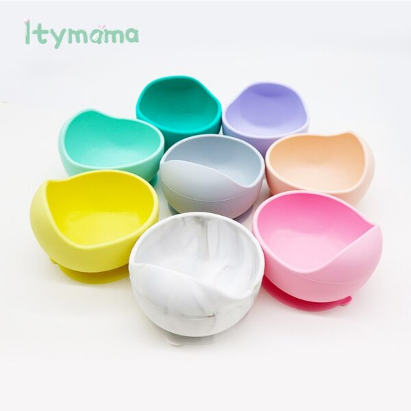 Baby Silicone Children's Dishes Dining Plate Top For Feeding BPA Free Tableware Fruit Platos Children Baby Feeding Dinner Bowl
