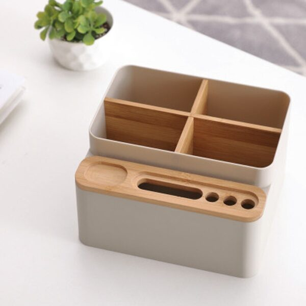 Multi-function Desktop Storage Box Detachable Partition Coffee Table Remote Control Cosmetics Stationery Organization