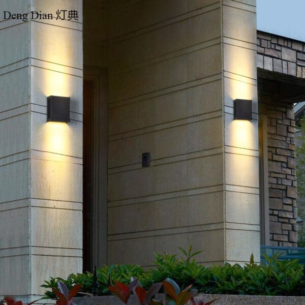 Modern UP and DOWN Led aluminum wall lamp IP65 garden Wall lights Outdoor Lighting decoration for balcony hallway front door