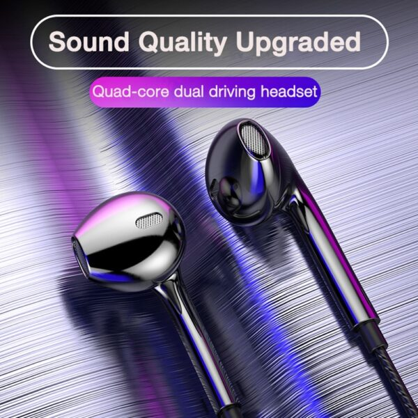 ZUIDID Phone Earphone Wire Quad-core Mobile Wired Headphones 3.5 Sport Earbuds with Bass Stereo Headset Mic Music Earphones
