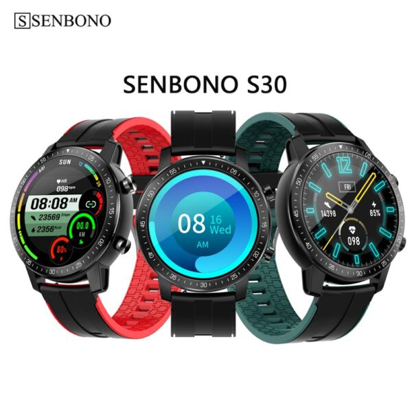 SENBONO 2020 Men Women Smart Watch Long Battery Life Waterproof IP68 HR/BP Fitness Tracker S30 smartwatch for IOS Android