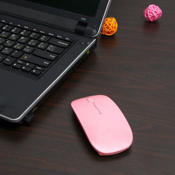 Office Ultra-thin Wireless Mouse 2AAA battery USB Fashion Computer high sensitivity Meeting Mouse Portable PC&Laptop Accessories
