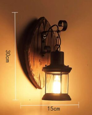 American Retro Industrial Wood Creative Bar Cafe Restaurant Wall Lamp Wall Lights for Home