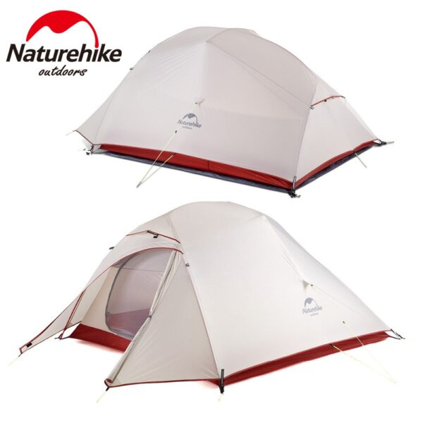 Naturehike Cloud Up Outdoor Camping Tent Ultralight 1 2 3 man 20D Silica Gel Single Double Persons Tent Hiking With Free Mat