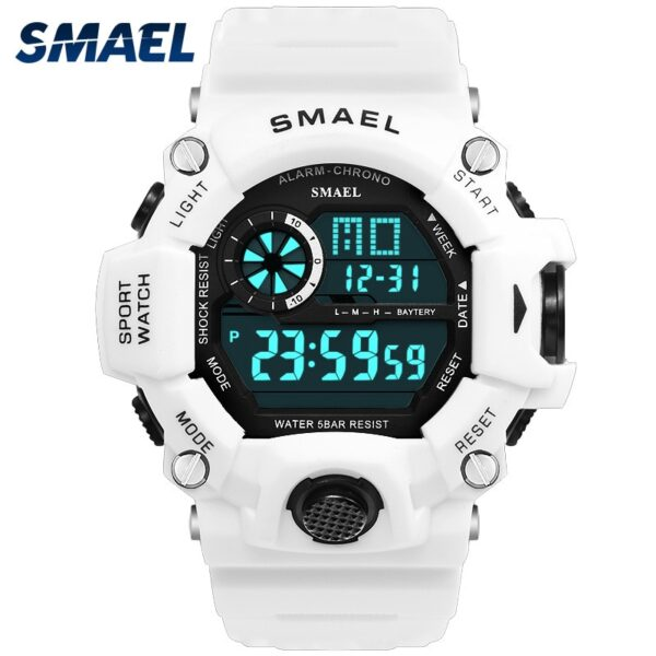 Watch Digital Watches Mens White SMAEL Sports Watch Waterproof Auto Date relogio masculino Clock Army Military Watches Sports