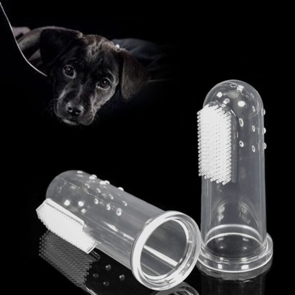 2020 Hot Selling Super Soft Pet Finger Toothbrush Teddy Dog Brush Bad Breath Tartar Teeth Tool Dog Cat Cleaning Supplies