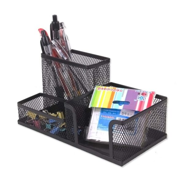 Metal Organizer Mesh Desk Organizer Table 3 Cell Jewelry Storage Box Drawer Pencil Pen Holder for Neatening Tools