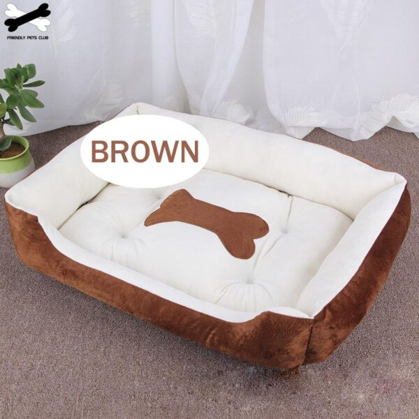 Bone Pet Bed Large House For Large Dog Puppy Kennel Waterproof Cat Litter Four Seasons Nest Warm Pet Supplies bed linen